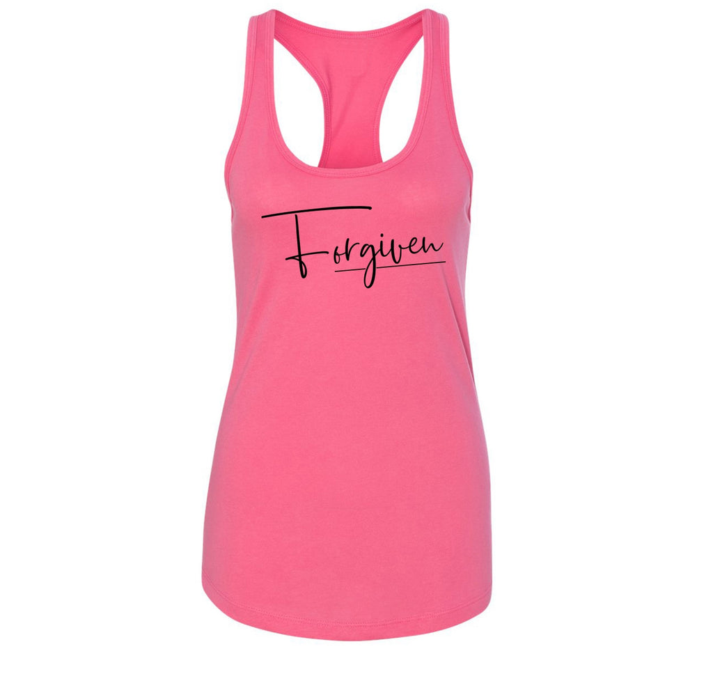 Forgiven Ladies Racerback Tank Top