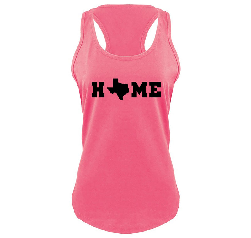 Home Texas Shape O Ladies Gathered Racerback Tank Top