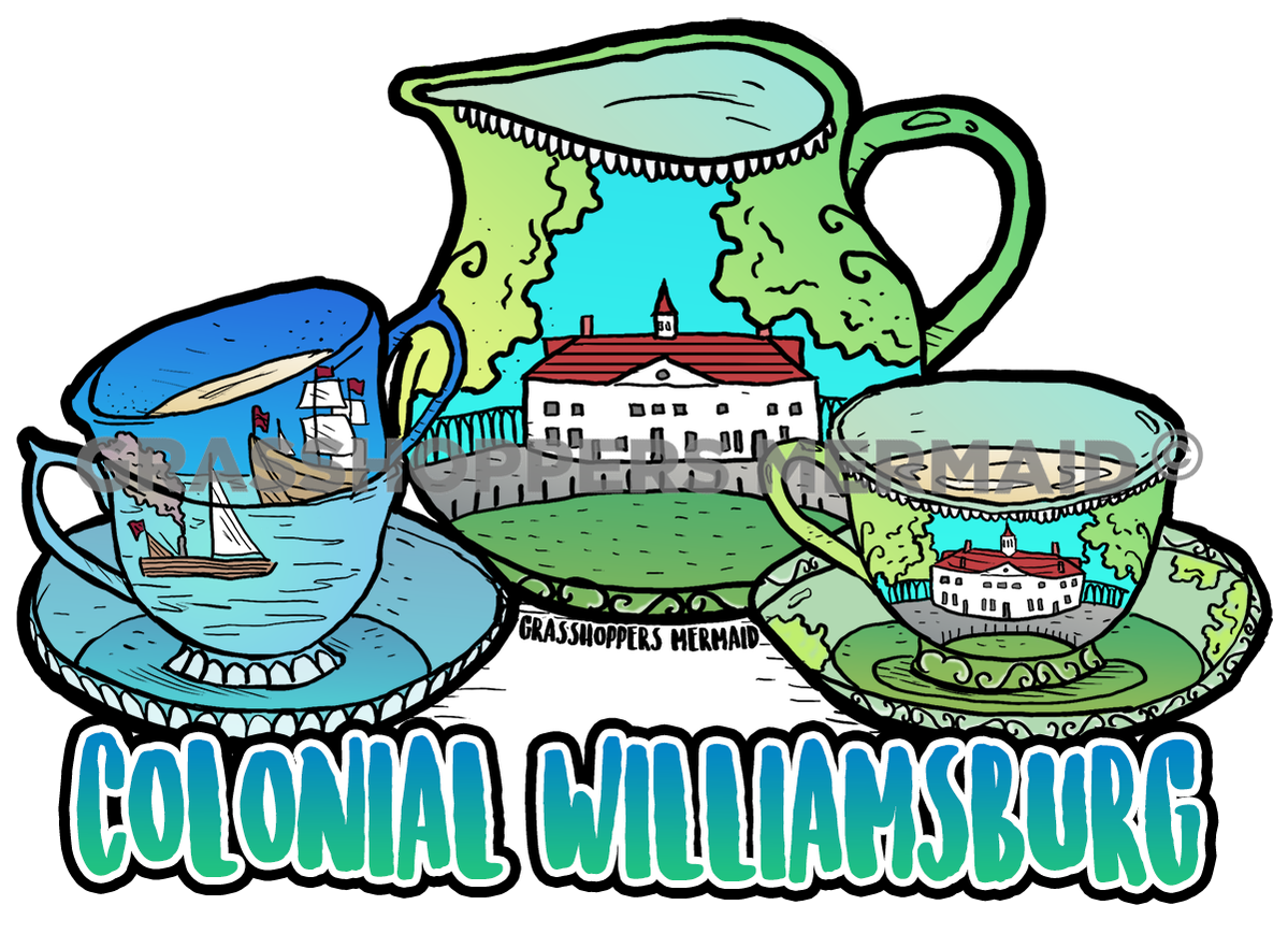 Colonial Tea Cup Set (#E21)