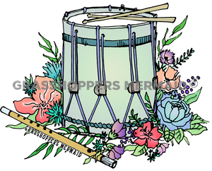 Colonial Flower Drum (#D32)