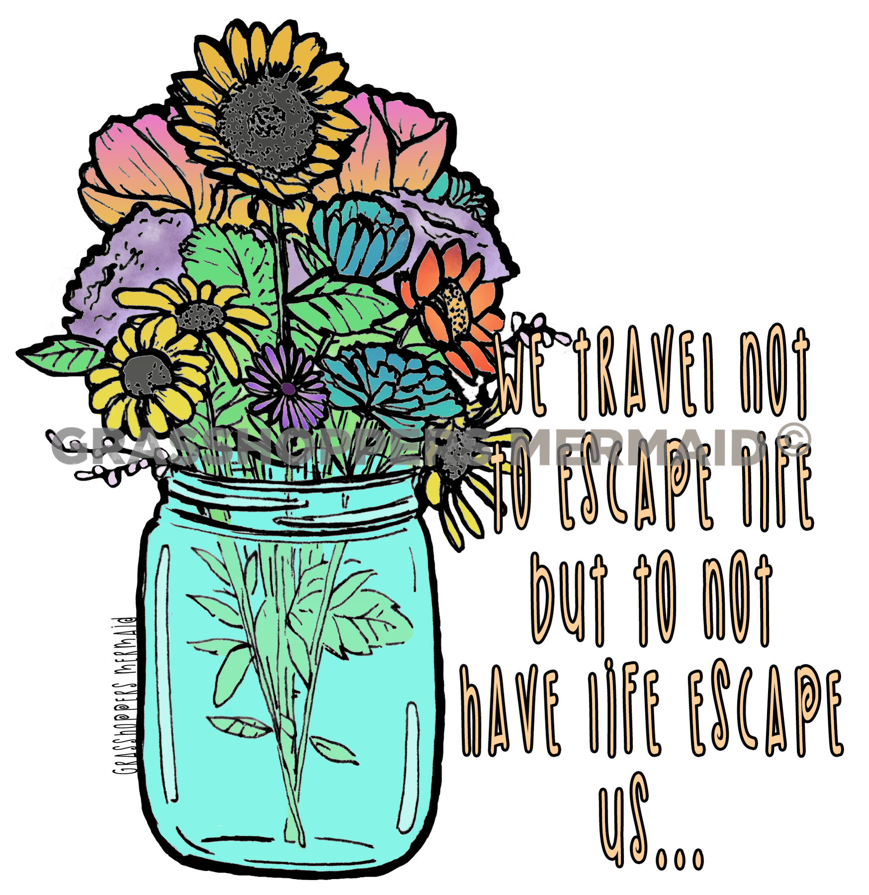Mason Jar Bouquet (#L7)