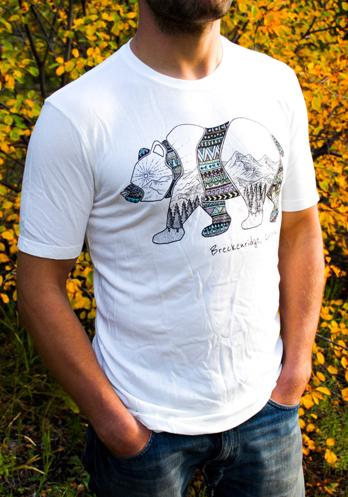men's bamboo aztec bear shirt