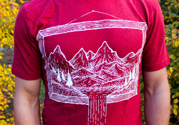 Unisex Hemp Mountains Shirt