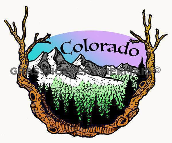 far away colorado sticker
