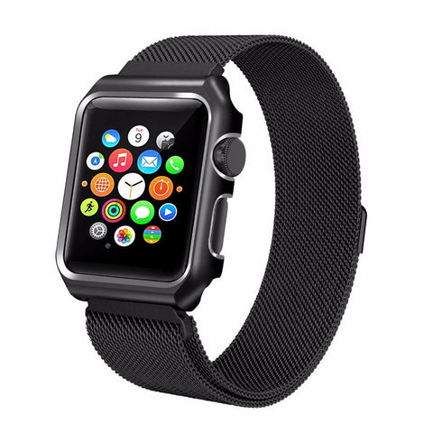 Milanese Loop  Watch Band with Metal Case 38mm & 42mm - Beads Bands and Things