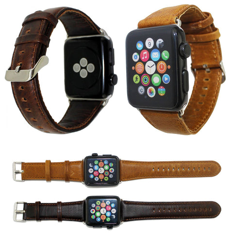 Genuine Leather Apple Watch Band 42mm 38mm - Beads Bands and Things