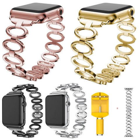 Stainless Steel Ring Apple Watch 38mm, Series 1,2 and 3 - Beads Bands and Things