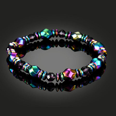 Natural Gallstone Hematite Beaded Bracelet - Multiple Colors