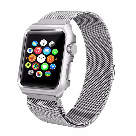 Milanese Loop  Watch Band with Metal Case 38mm & 42mm