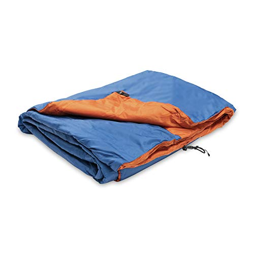 Klymit Versa Packable Camping Blanket & Comforter, Blue/Orange