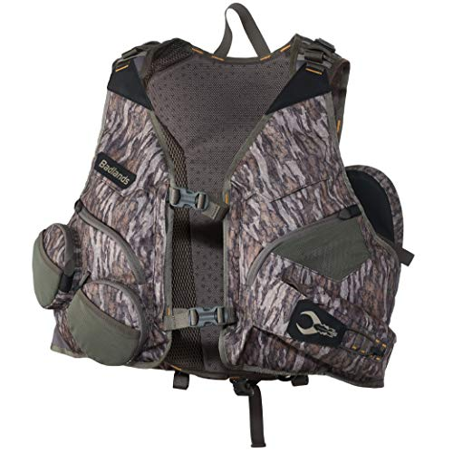 Badlands Upland Turkey Hunting Vest with 5-Layer Foam Seat, Mossy Oak Bottomland …