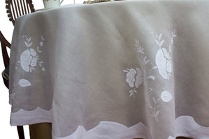 Madeira Embroidered round tablecloth