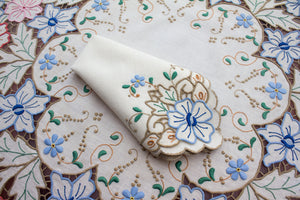 Madeira Embroidered tablecloth, linen