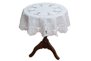 Madeira Embroidery tea tablecloth