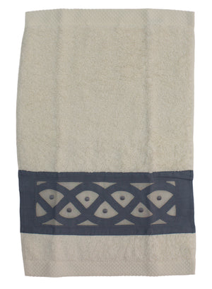 Premium Turkish cotton bath towel with handmade Madeira Embroidery