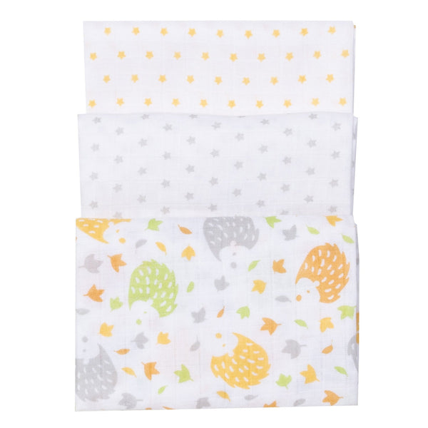 Three Pack Muslins/Blankets -Hoglet