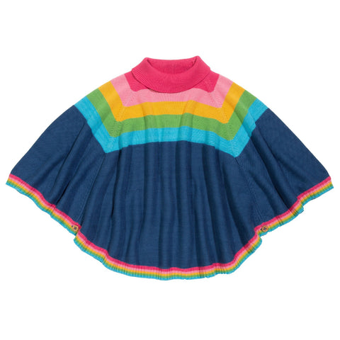 Rainbow Poncho -Girls