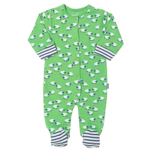 Footed Sleepsuit -Sheepy stripe