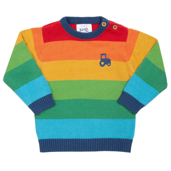 Midnight Knit Organic Cotton Sweatshirt -Rainbow
