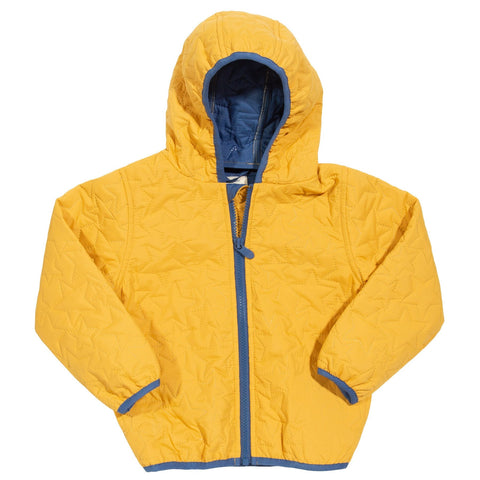 Mustard Yellow Cocoon Hooded Coat