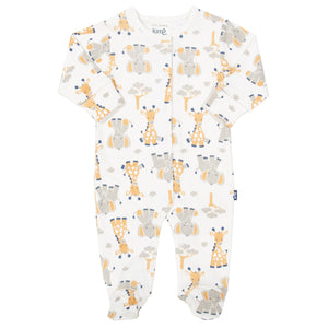 Giraffe and Ele Footed Sleepsuit