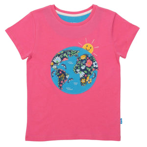 Short Sleeve Planet Dolphin T-Shirt