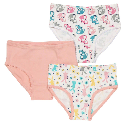 3-pack Organic Girl Briefs