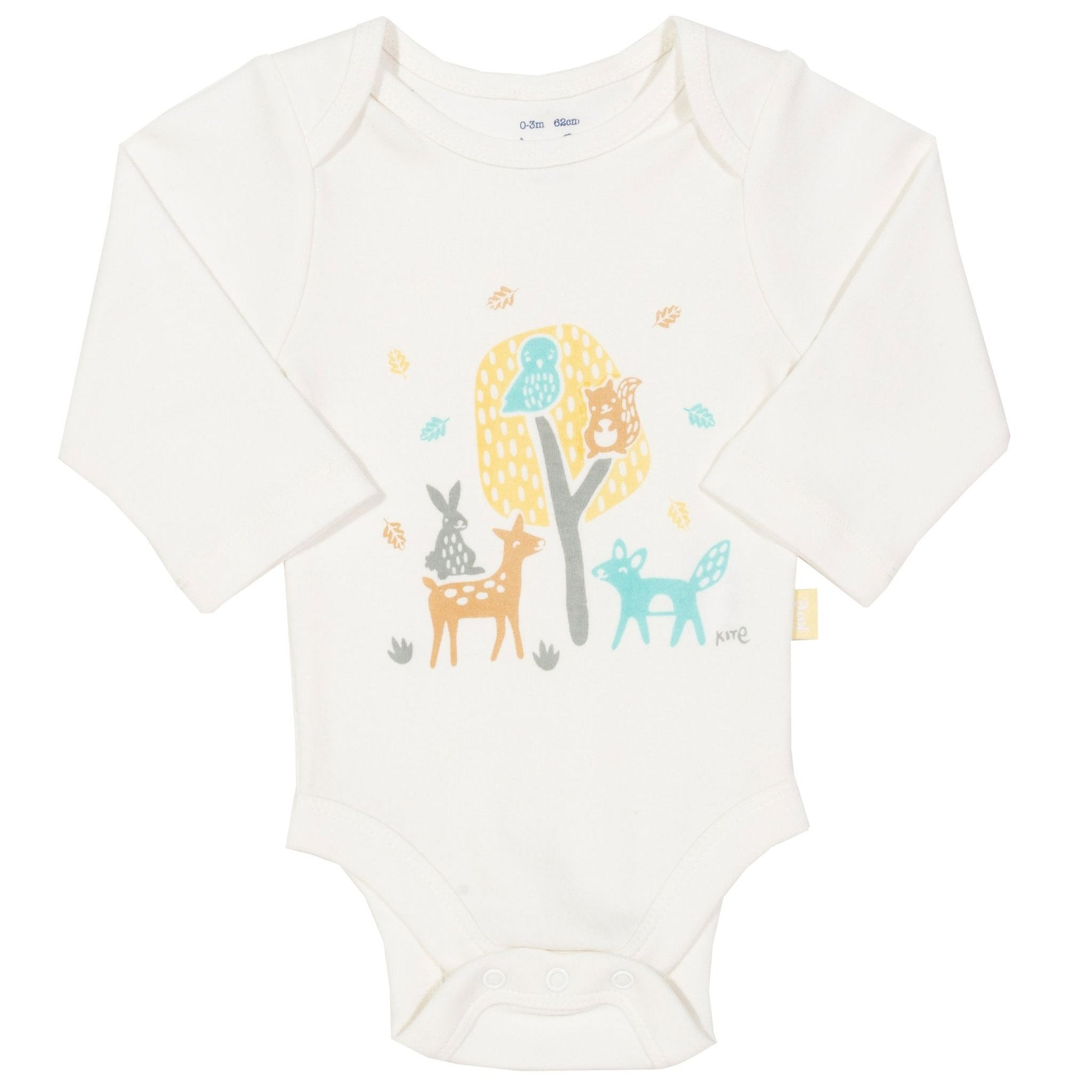 Woodland Long Sleeve Cream Bodysuit