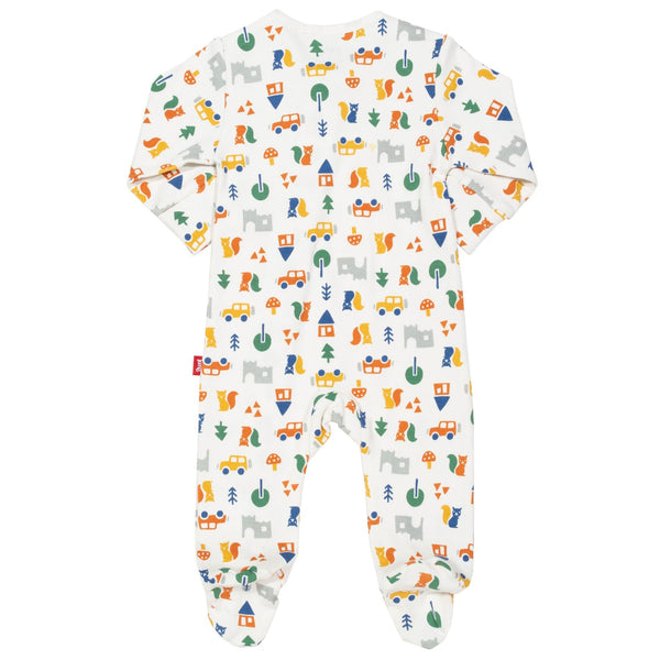 Brownsea Woodland Traveling Baby Footed Sleepsuit