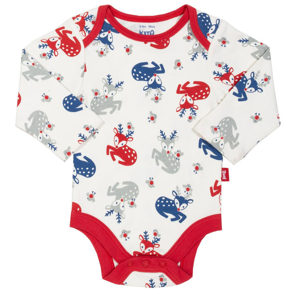 Robin & Reindeers baby dungaree/ jumper with bodysuit set