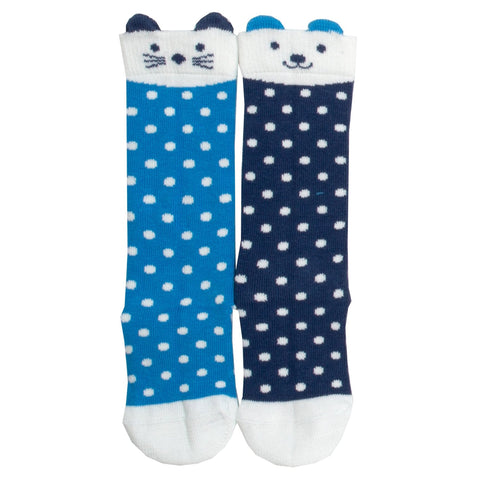 Two-pack Cat & Dog Dot socks
