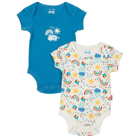 Baby Bodysuits 2-pack 'Sky High'