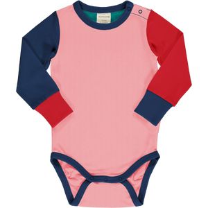 Long Sleeve Bodysuit -Color Block Blossom-