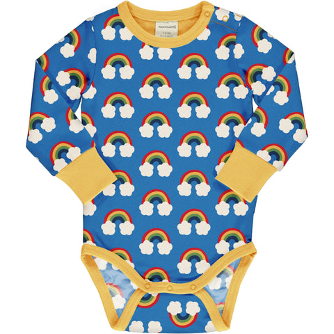 Long Sleeve Baby Bodysuit -Rainbow Print