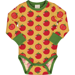 Long Sleeve Baby Bodysuit -Tomato Print