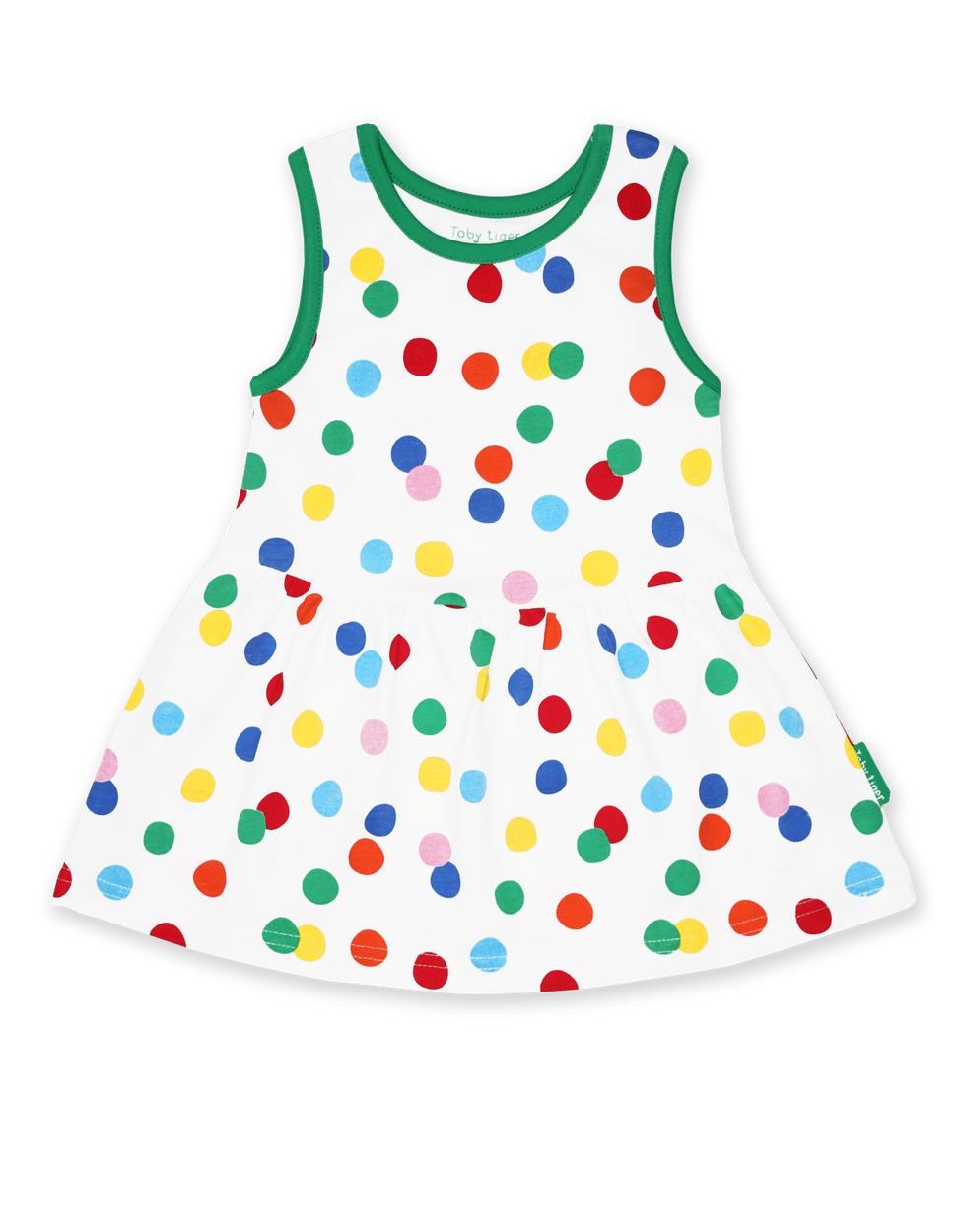 Toby Tiger Confetti Print Twirl Dress