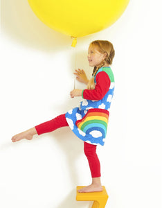 Multi-Rainbow Appliqué Dress -Ships after 04/14/2020-