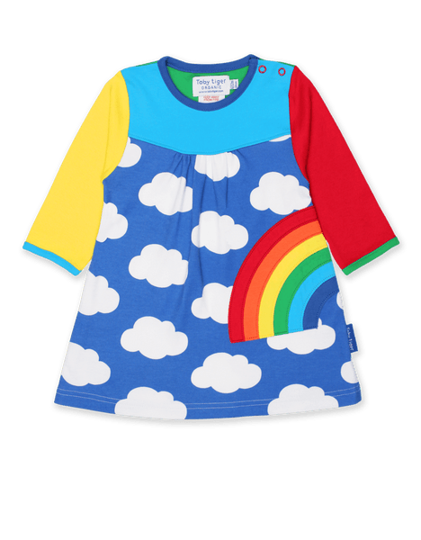 Multi-Rainbow Appliqué Dress