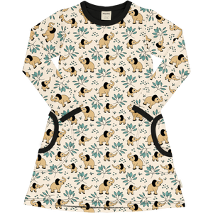 Long Sleeve Dress -Elephant Garden Print-
