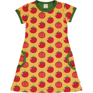 Short Sleeve Dress -Tomato Print