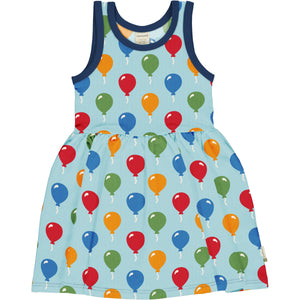 No Sleeve Spin Dress -Balloon Print