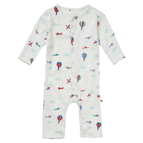 Fly the Sky Romper Knot Hat & Muslin baby shower set