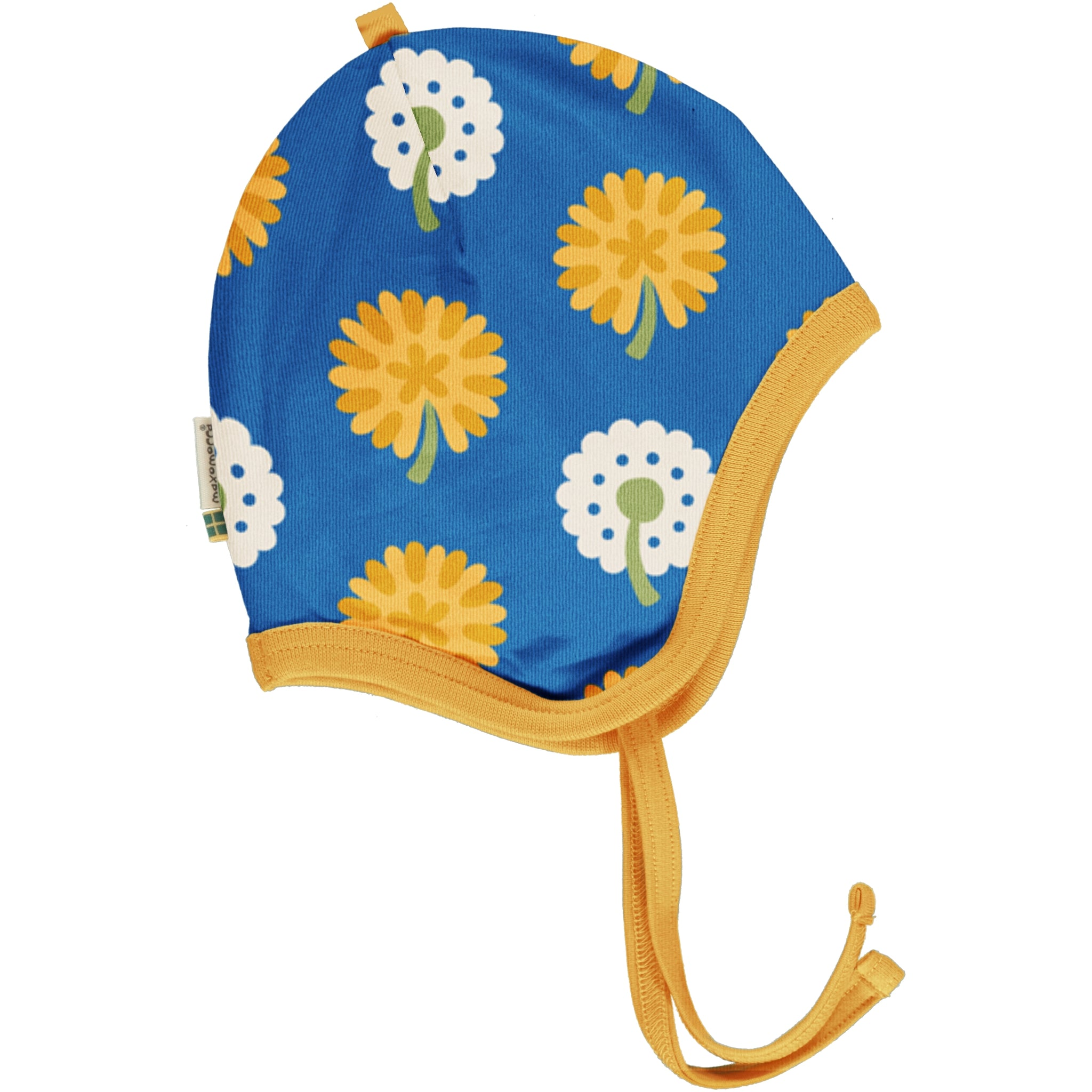 Infant Hat Helmet -Dandelion Print