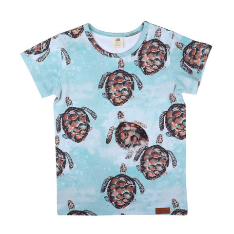Short Sleeve T-Shirt -Sea Turtle  Print
