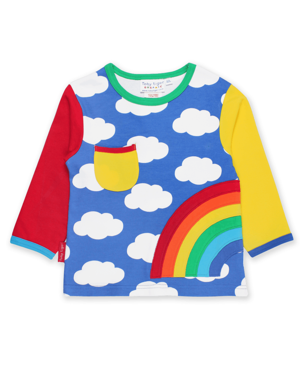 Rainbow Applique & Clouds Colorful Long Sleeve Tee