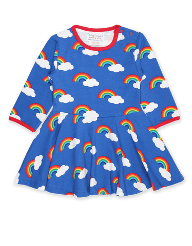 Multi-Color Rainbows and Clouds Skater Dress