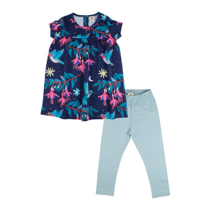 Set Babydoll & Leggings -Hummingbird Print