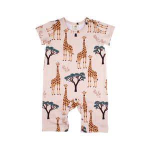 Beach Playsuit -Giraffes Print