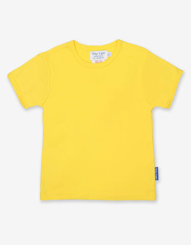 Yellow Basic Short Sleeve T-Shirt