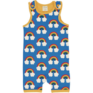 Romper (Playsuit Short) -Rainbow Print